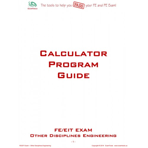 program guide for the other disciplines engineering fe exam